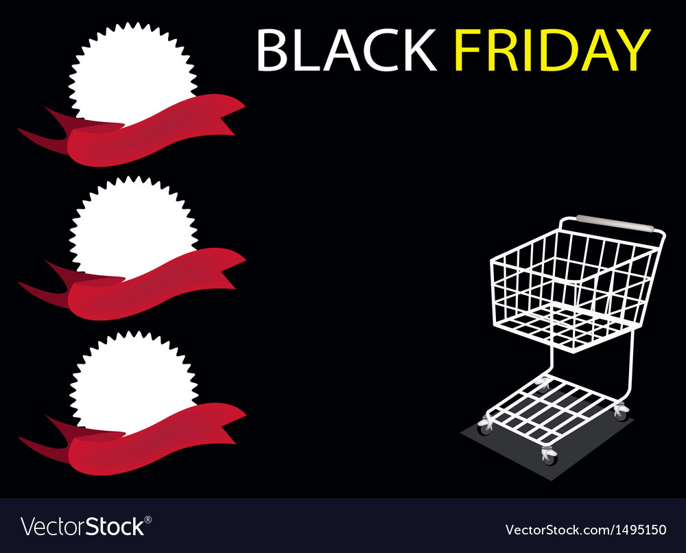 Shopping cart on black friday background vector | Price: 1 Credit (USD $1)