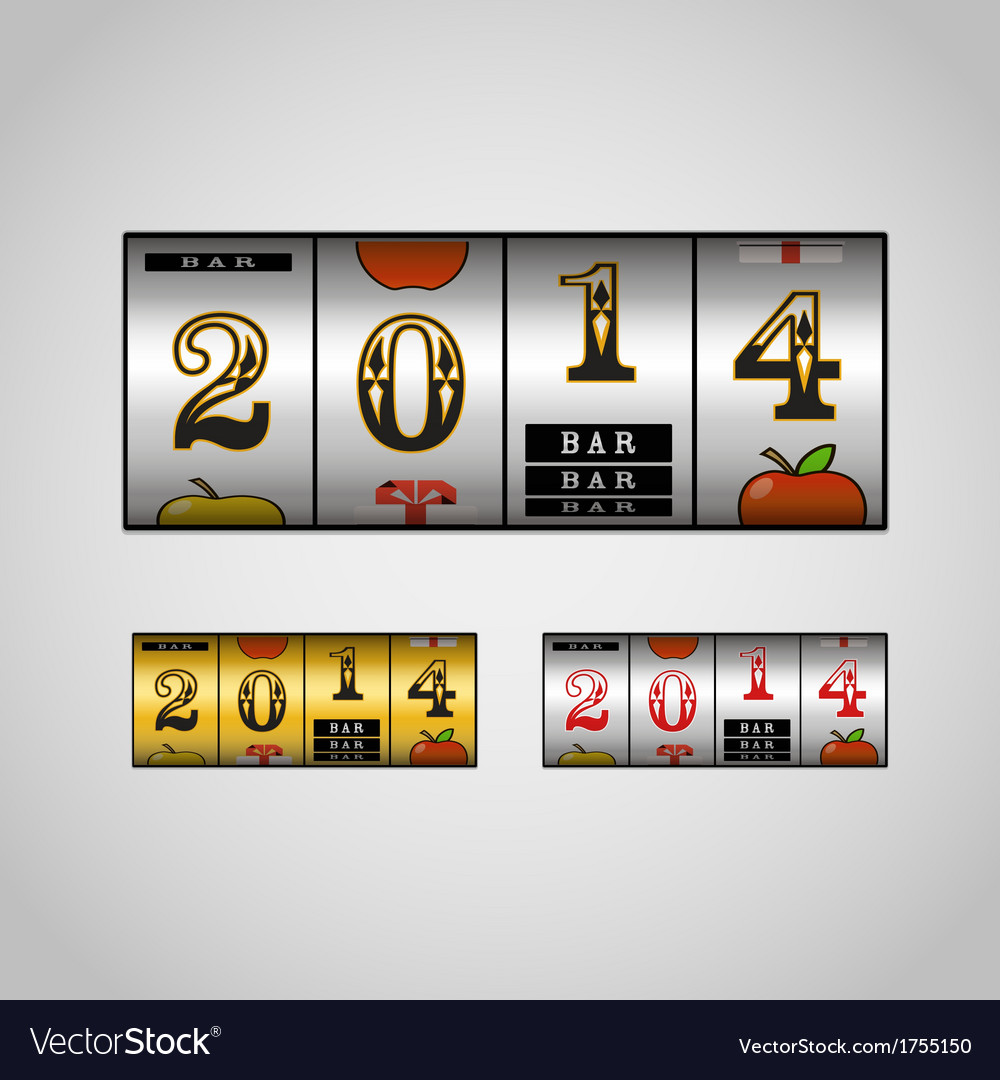 Slot maching with 2014 digits set vector | Price: 1 Credit (USD $1)