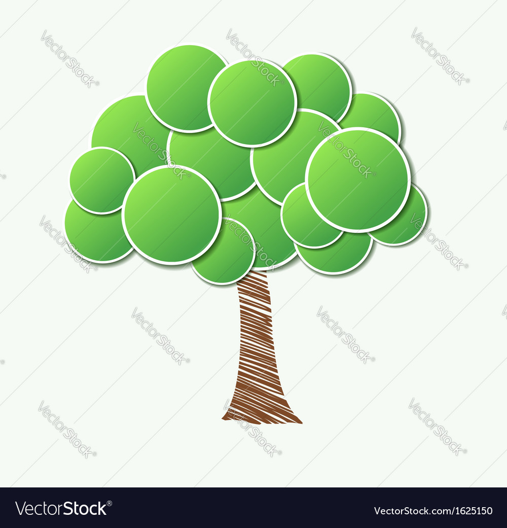 Stylish paper tree many similarities to the author vector   Price: 1 Credit (USD $1)