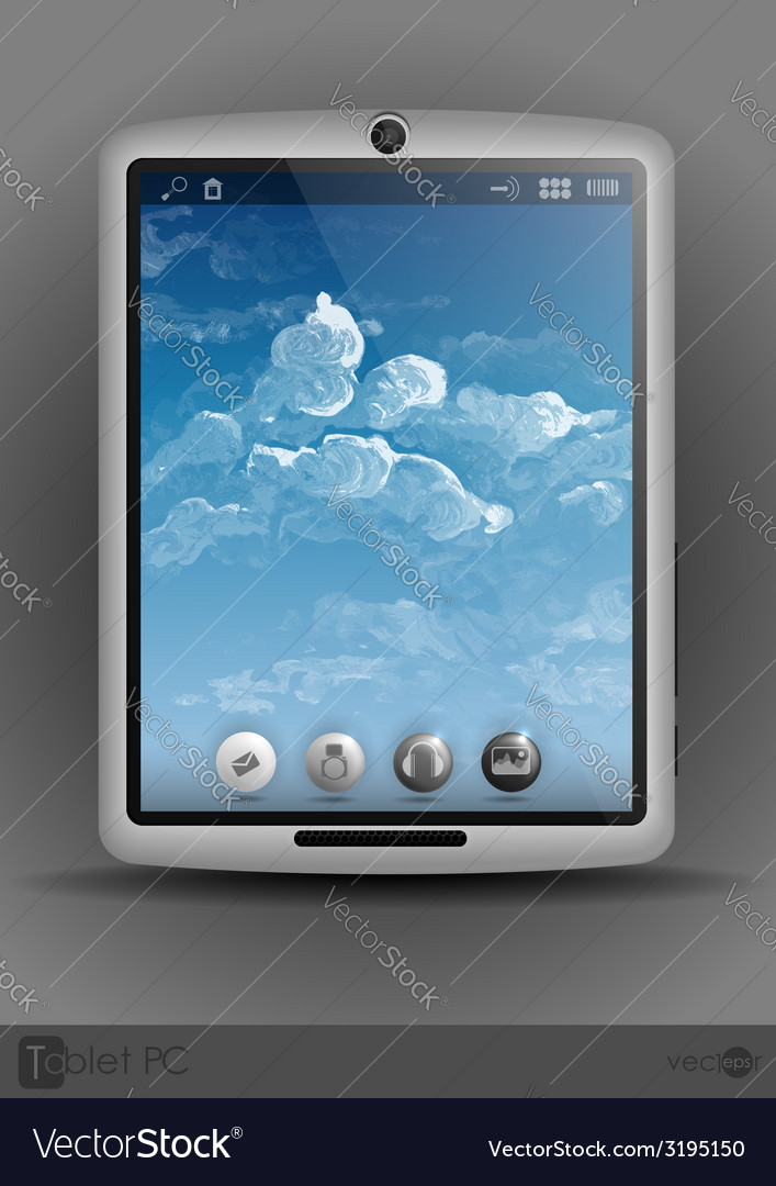 Tablet computer mobile phone vector | Price: 1 Credit (USD $1)