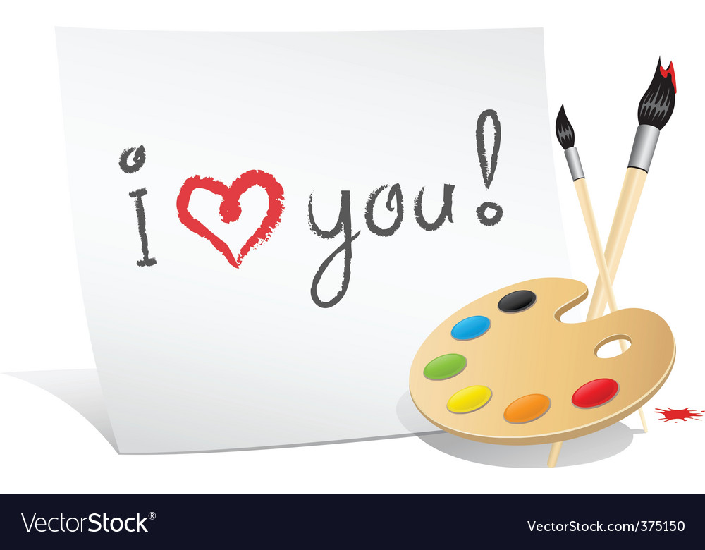 Valentine card of the artist vector | Price: 1 Credit (USD $1)