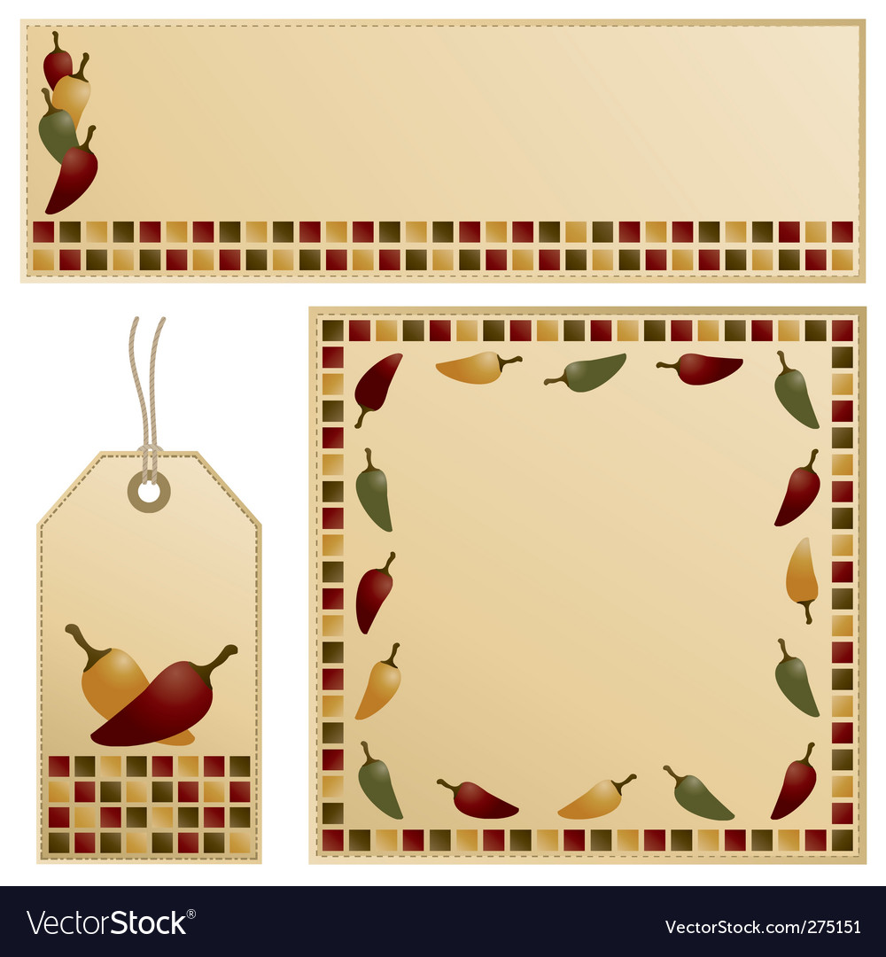 Chili pepper set vector | Price: 1 Credit (USD $1)