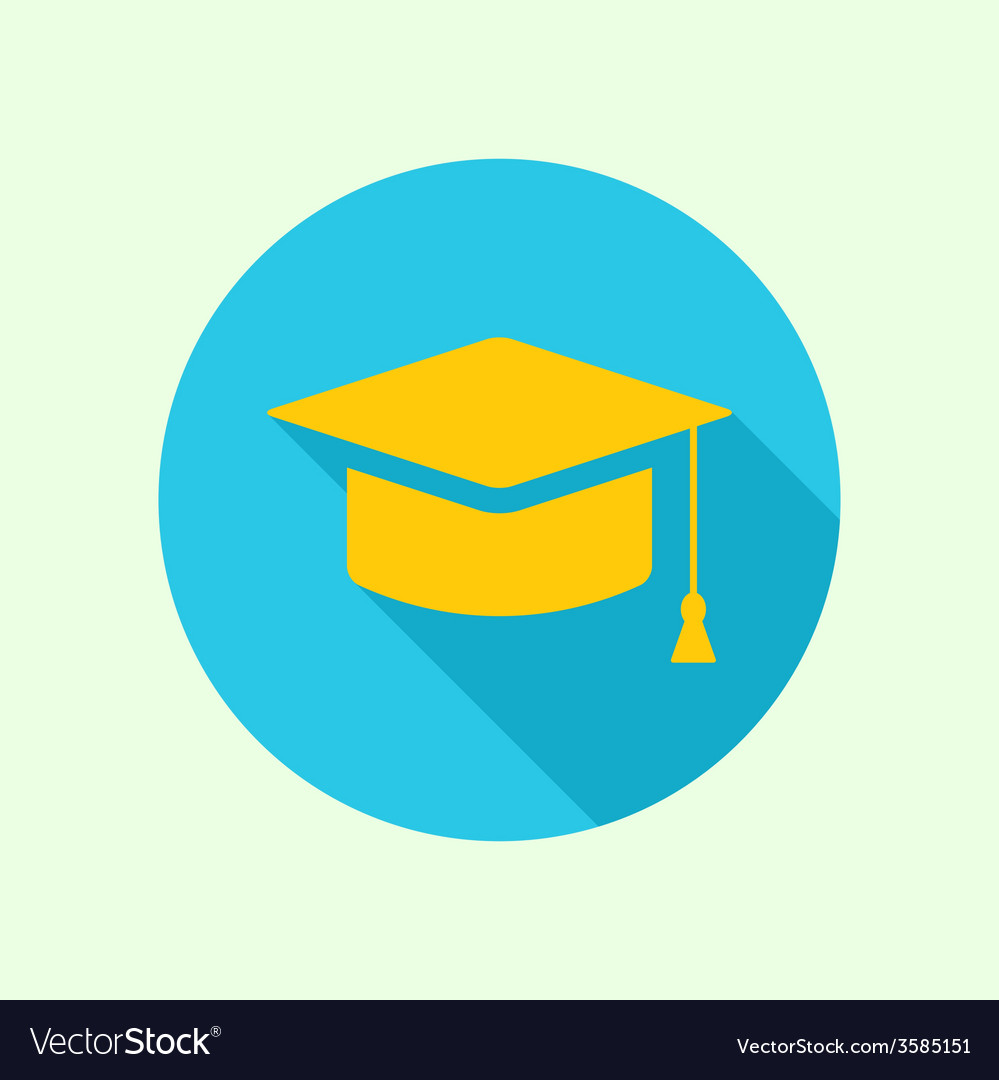 Icon of mortarboard or graduation cap vector | Price: 1 Credit (USD $1)