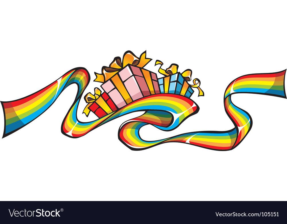 Rainbow giftwrap vector | Price: 1 Credit (USD $1)