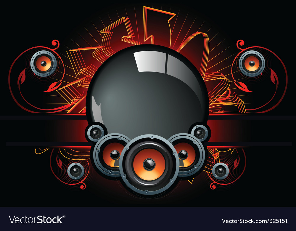 Speaker set vector | Price: 3 Credit (USD $3)