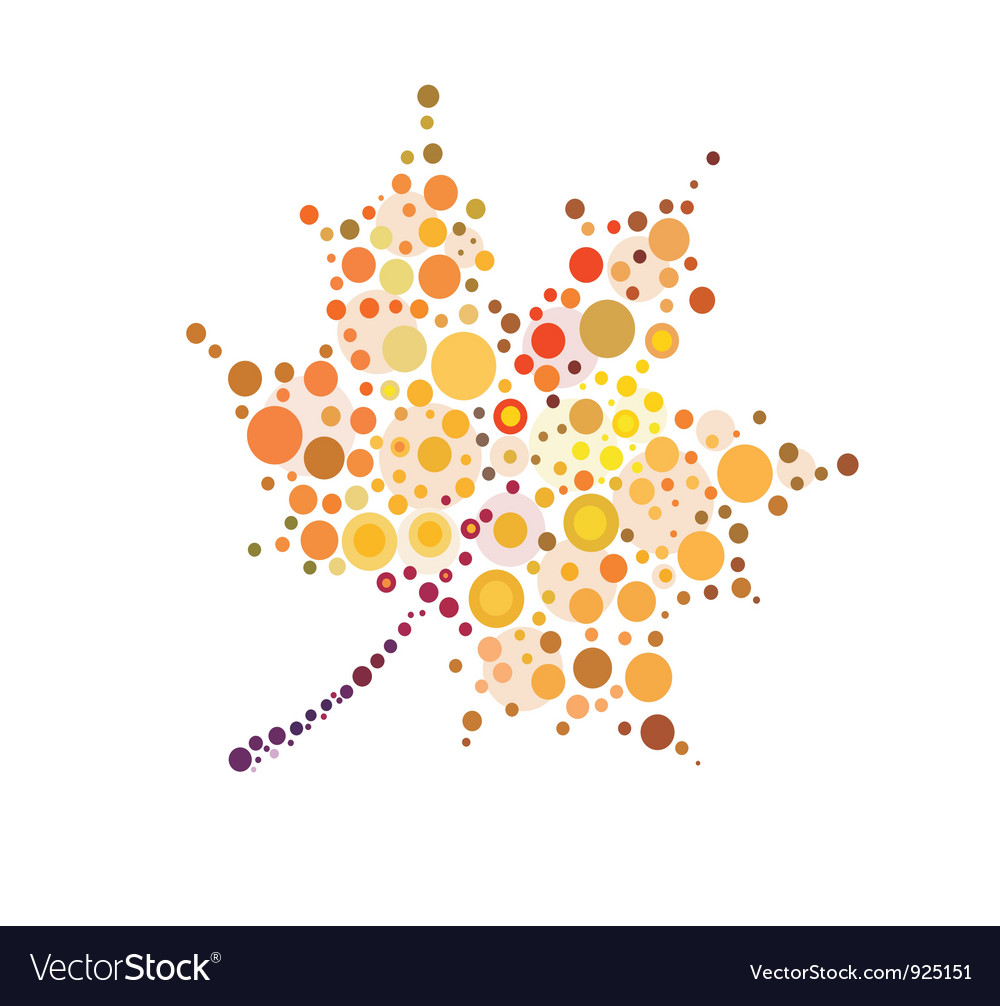 Stylized autumn maple leaf vector | Price: 1 Credit (USD $1)