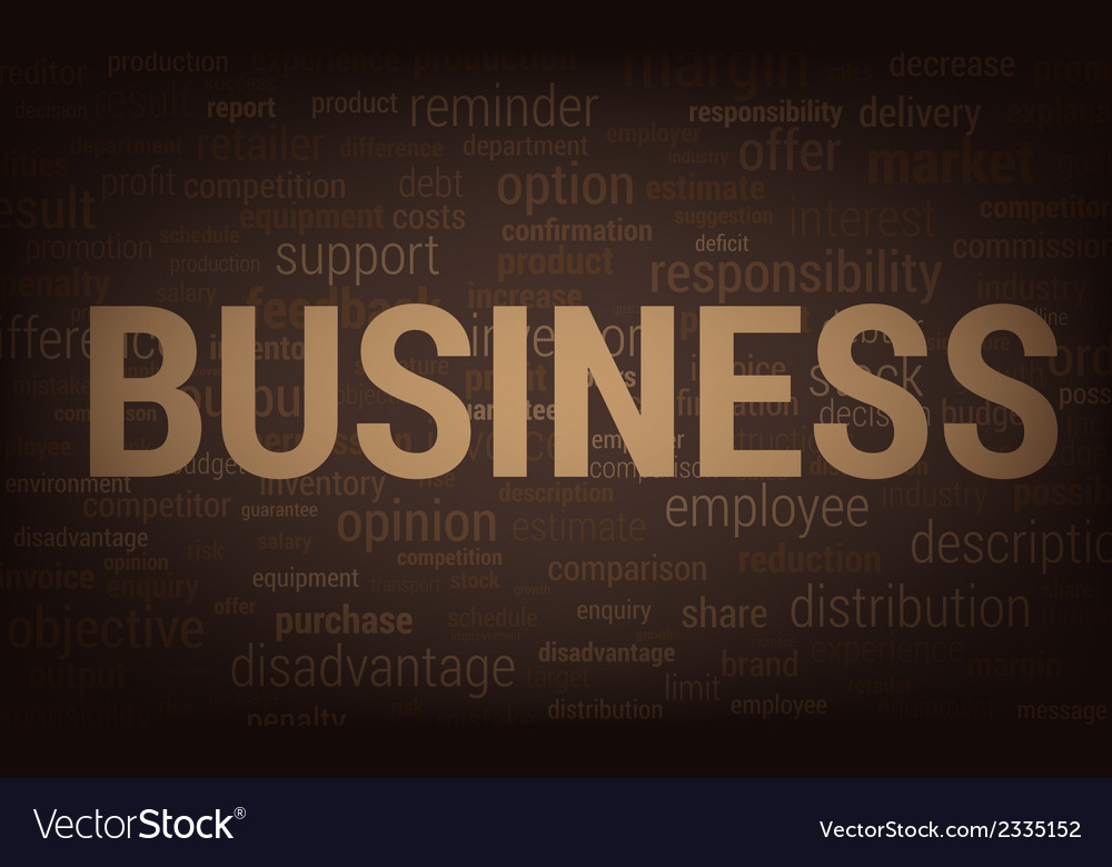 3093 business word vector | Price: 1 Credit (USD $1)