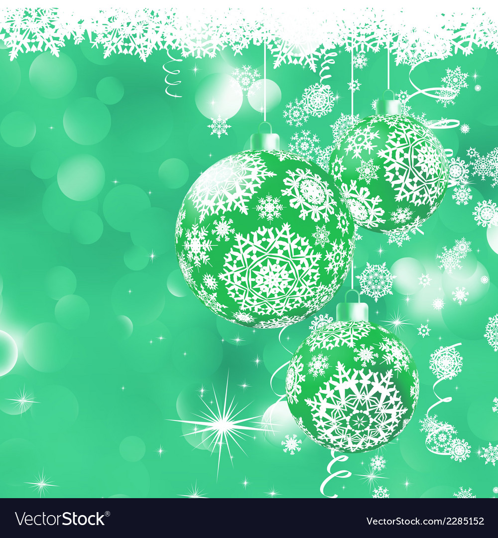 Christmas bokeh background with baubles eps 8 vector | Price: 1 Credit (USD $1)