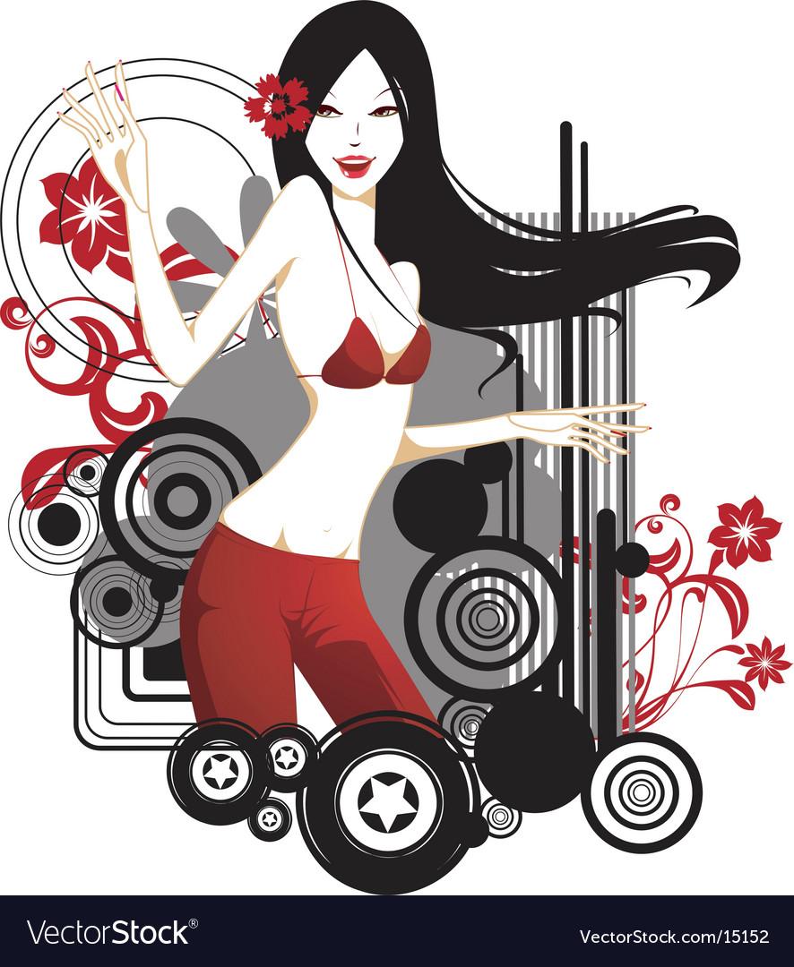 Fashion model vector | Price: 3 Credit (USD $3)