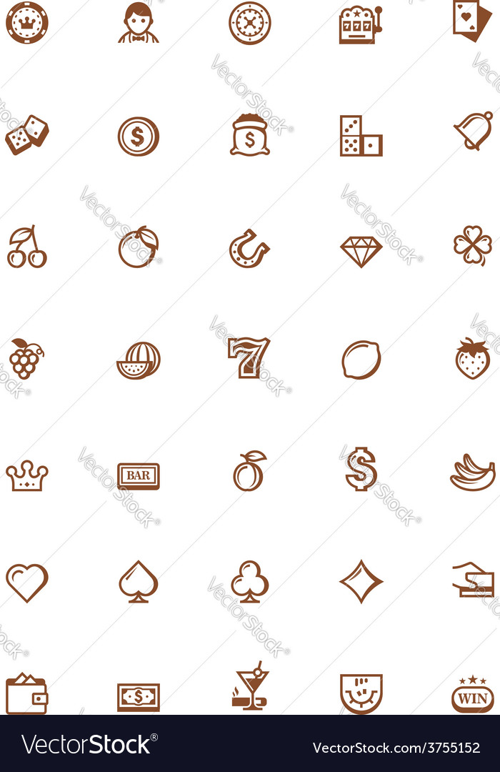 Gambling icon set vector | Price: 1 Credit (USD $1)