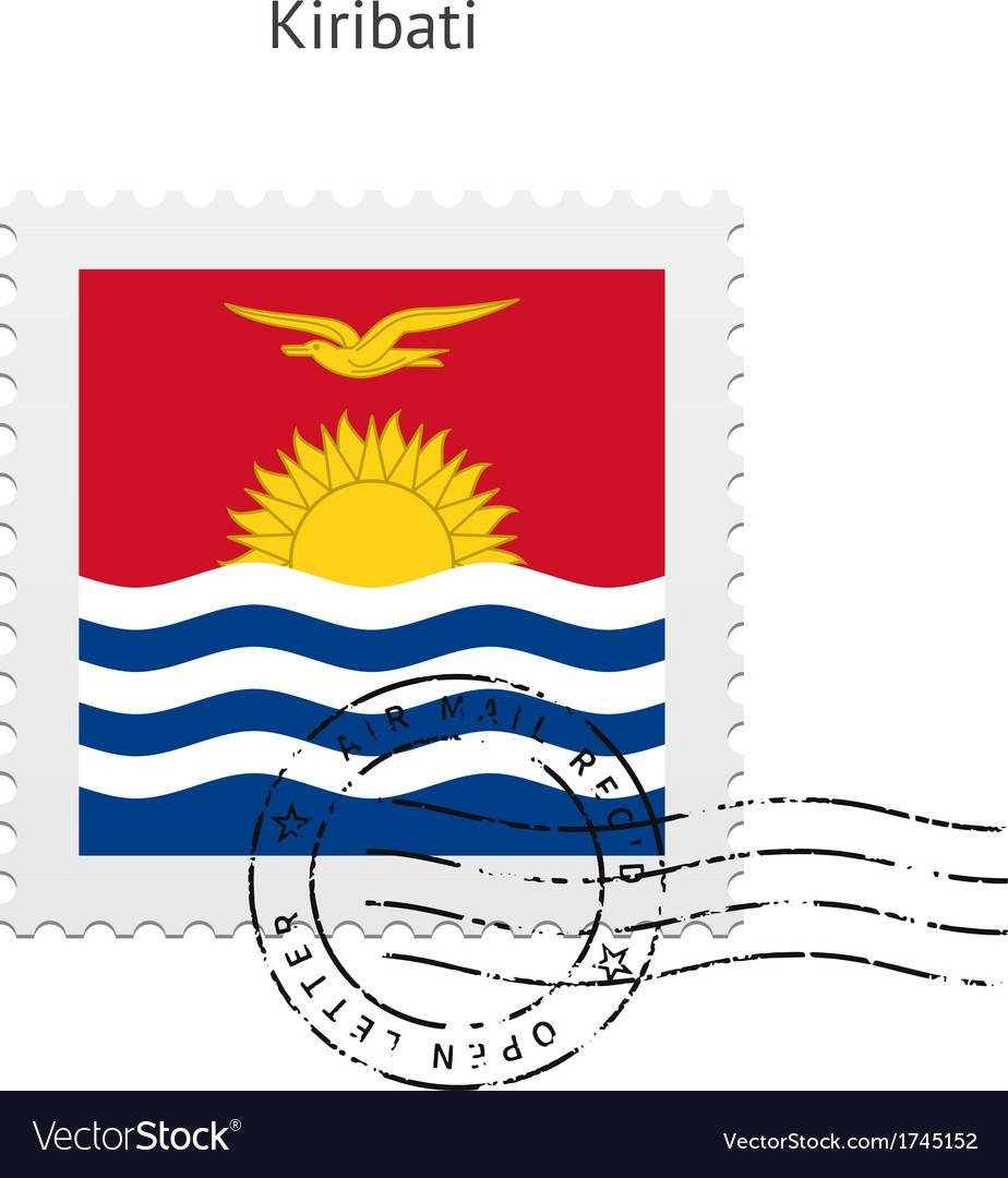 Kiribati flag postage stamp vector   Price: 1 Credit (USD $1)