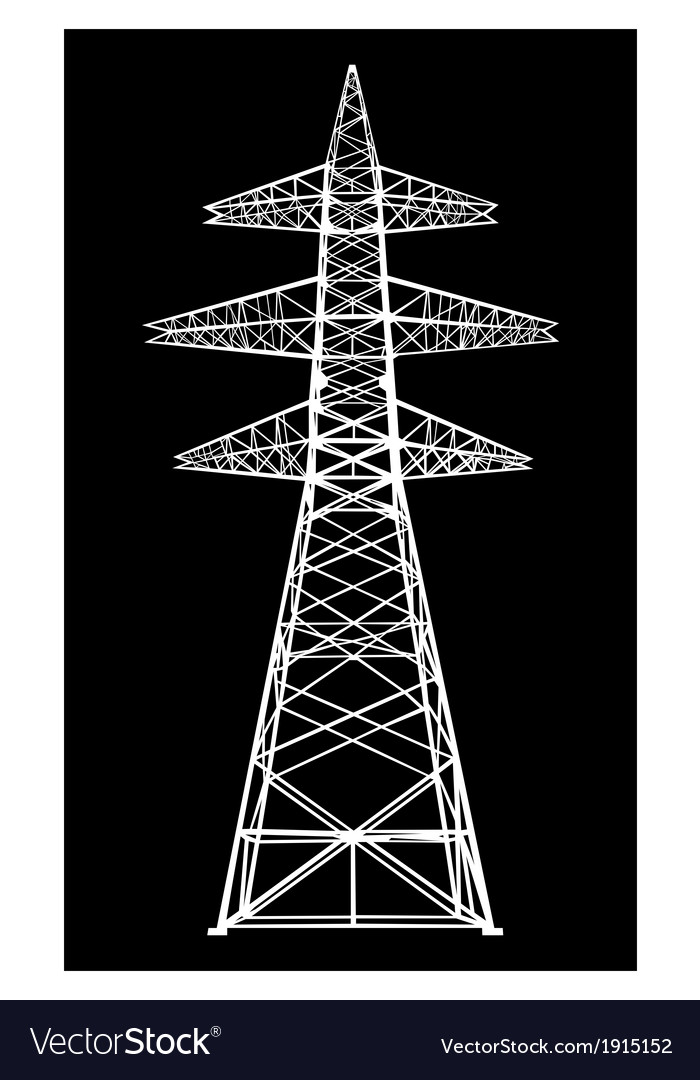 Power transmission tower vector | Price: 1 Credit (USD $1)