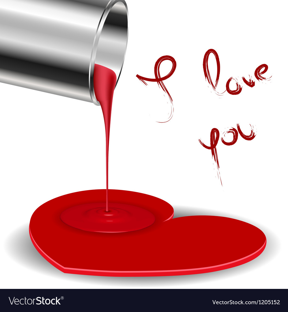Spilled paint forming a heart vector | Price: 1 Credit (USD $1)