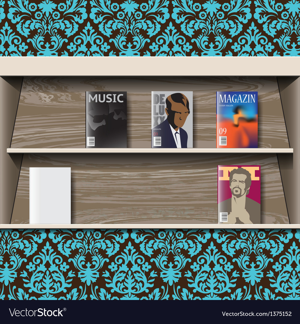 Stand online magazines vector | Price: 3 Credit (USD $3)