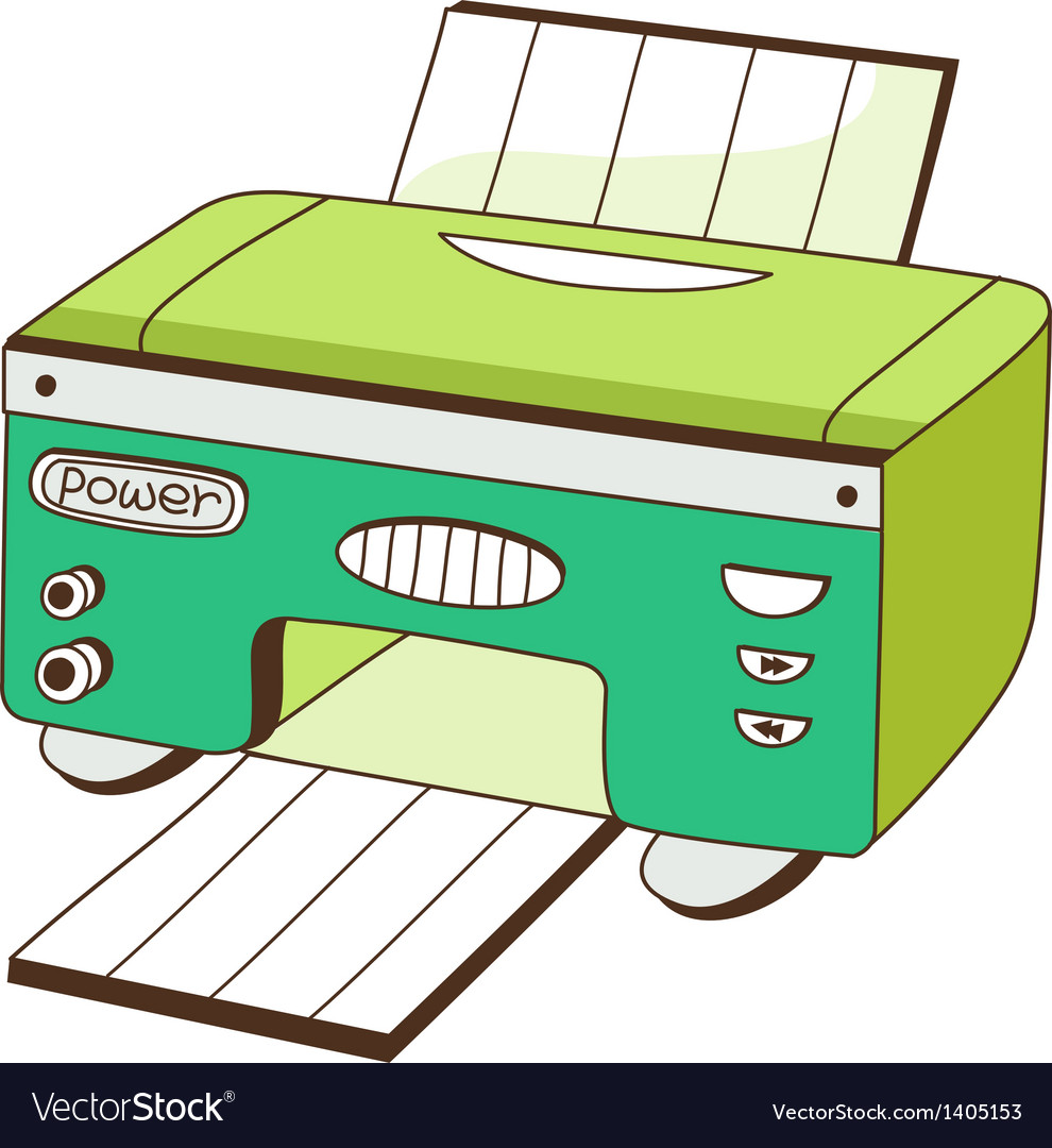 A printer vector | Price: 1 Credit (USD $1)