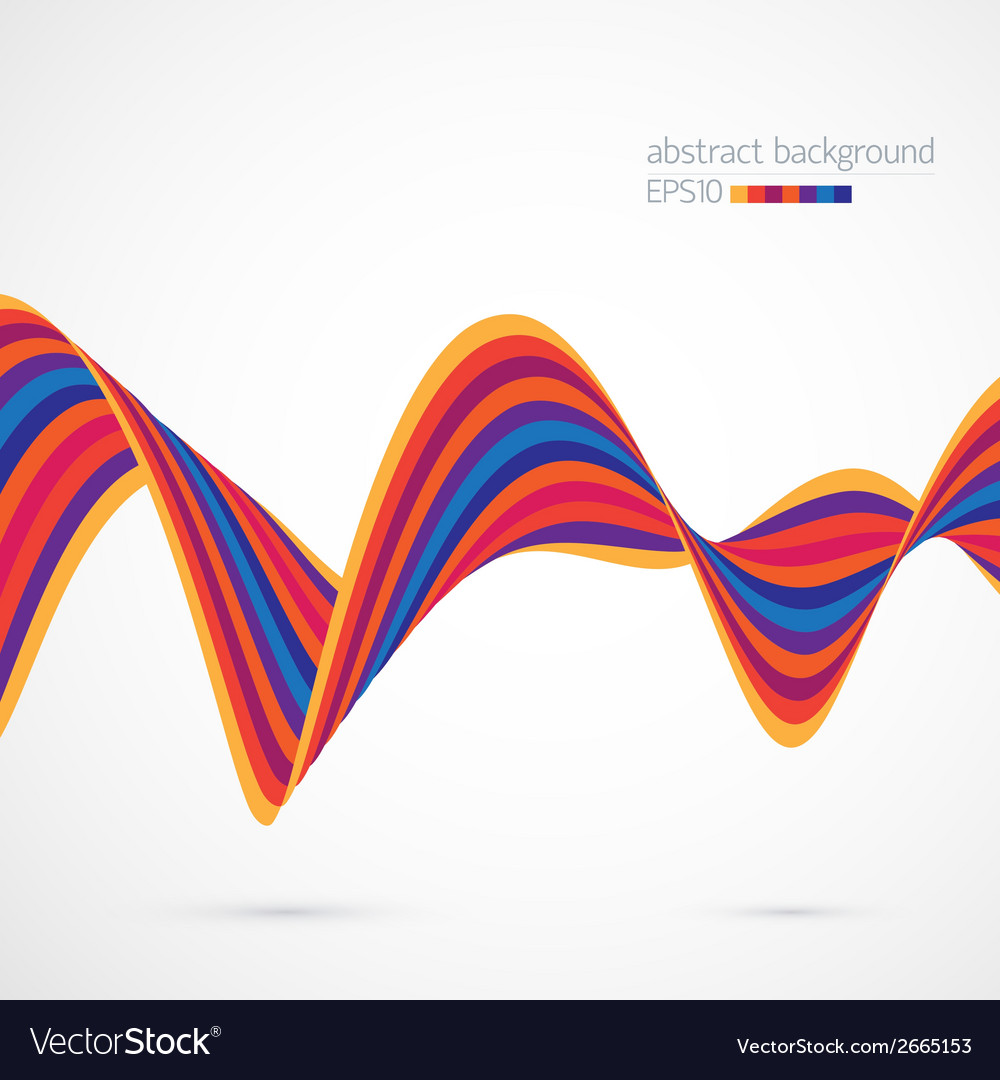 Background with curved ribbon vector | Price: 1 Credit (USD $1)