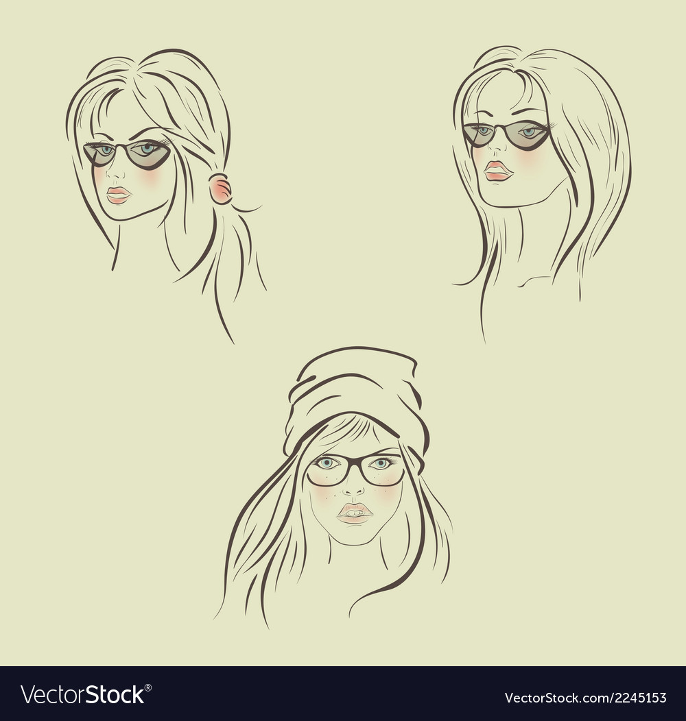 Beautiful girls vector | Price: 1 Credit (USD $1)