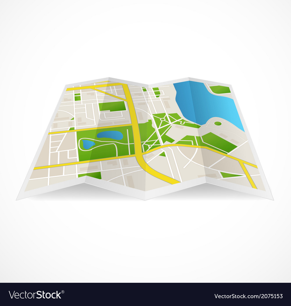 Cbstract city map and river vector | Price: 1 Credit (USD $1)
