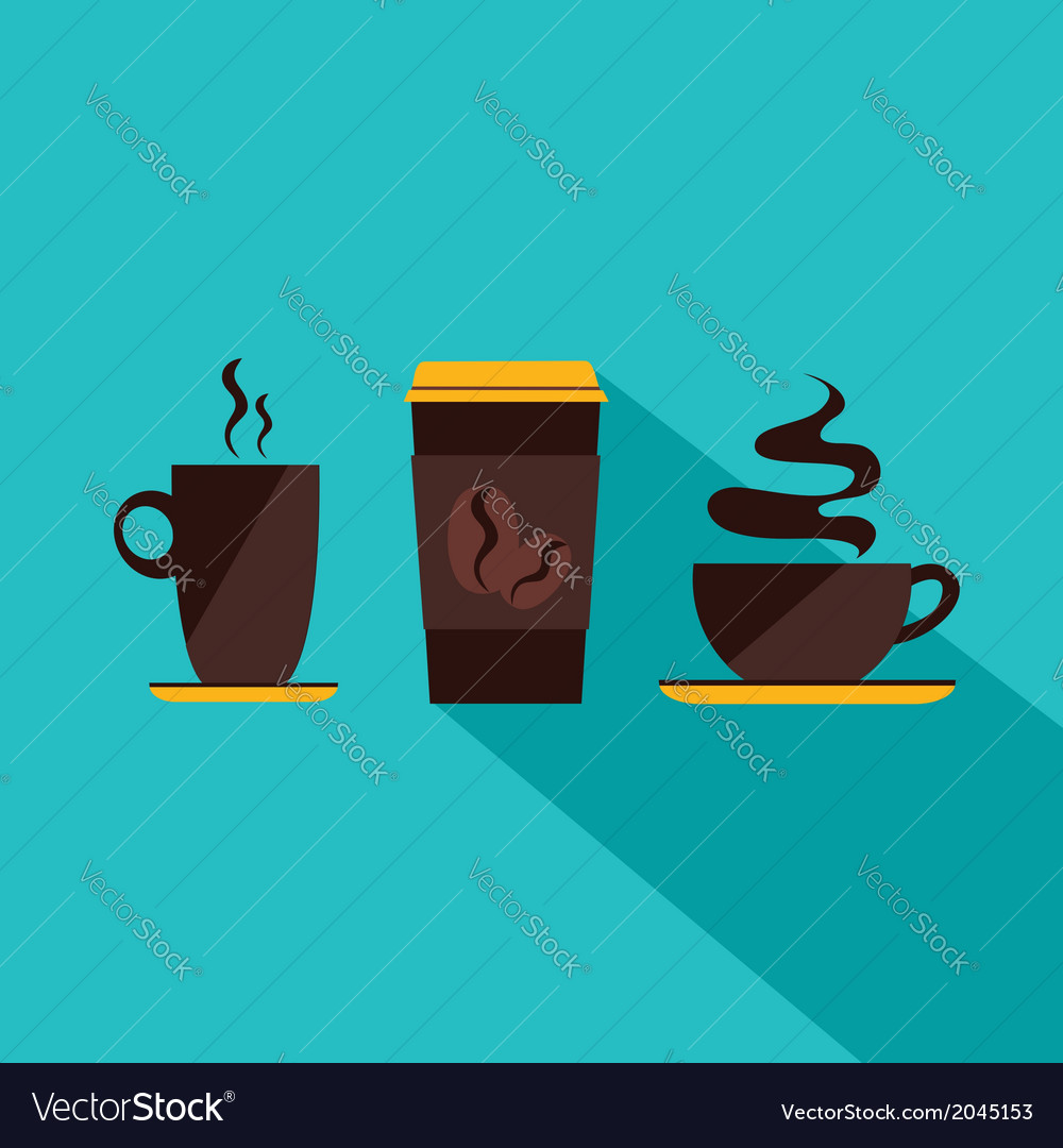 Coffee icon menu flat design for menu coffee shop vector   Price: 1 Credit (USD $1)