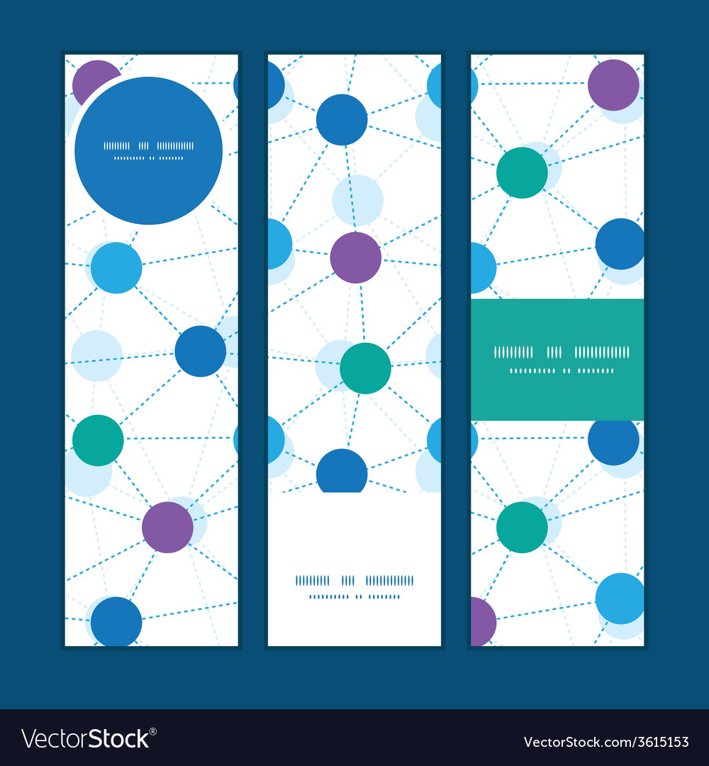 Connected dots vertical banners set pattern vector | Price: 1 Credit (USD $1)