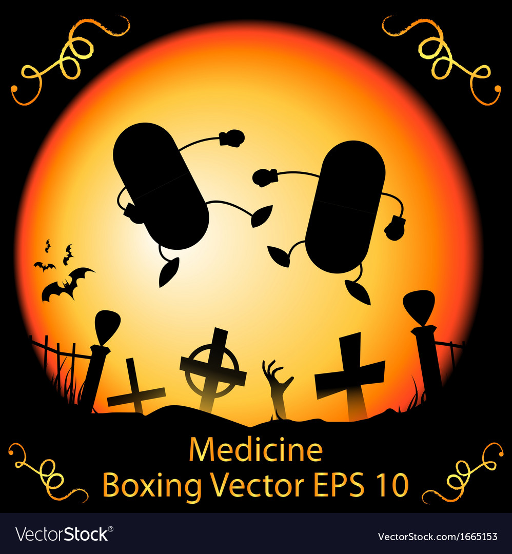 Dark medicine boxing vector | Price: 1 Credit (USD $1)