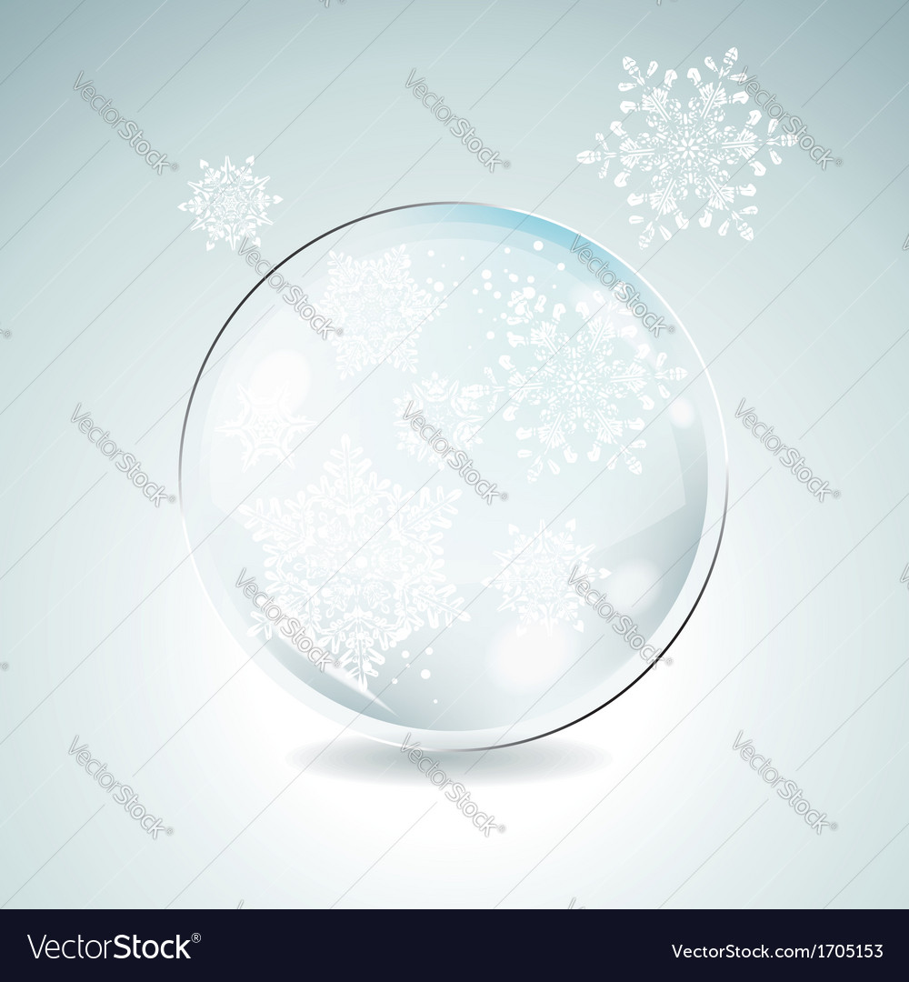 Fir tree bauble with white snowflakes christmas vector | Price: 1 Credit (USD $1)