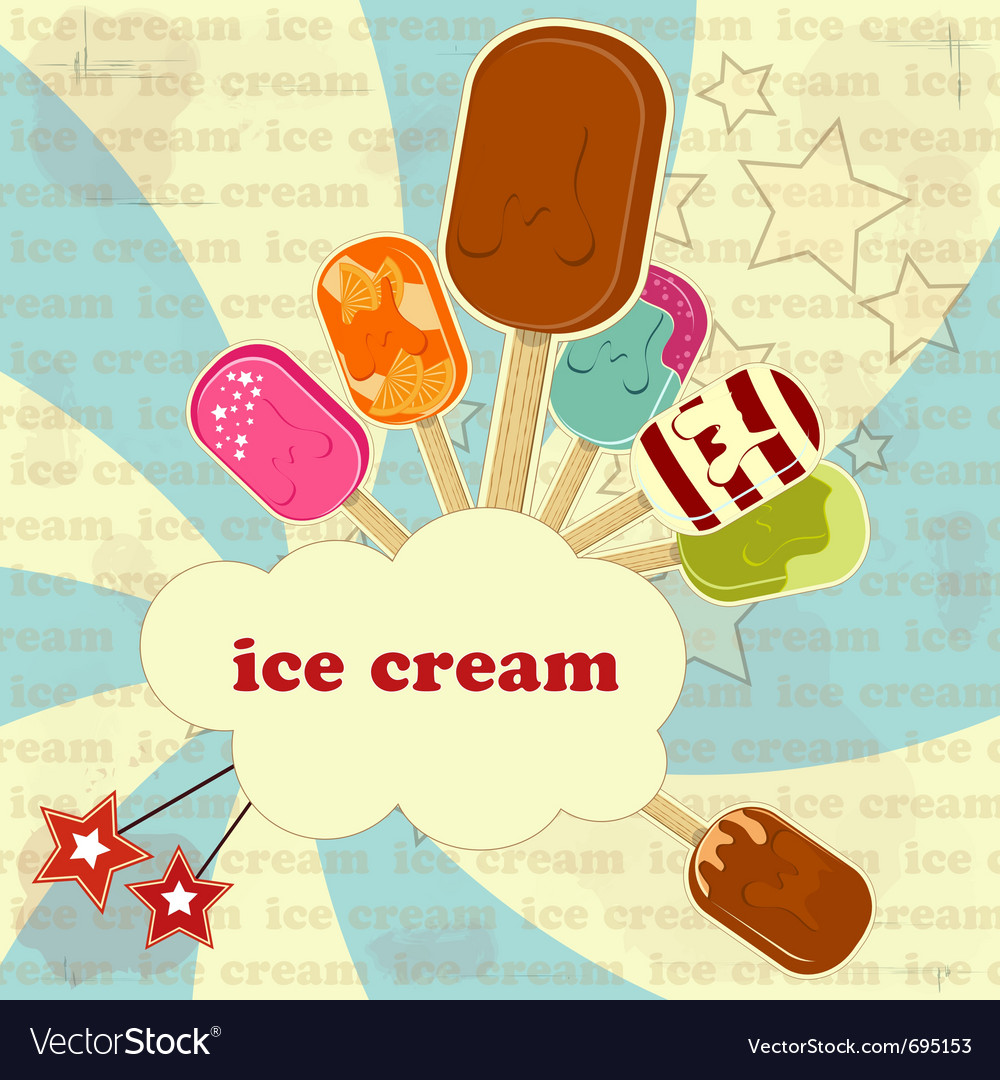 Ice cream set vector | Price: 1 Credit (USD $1)