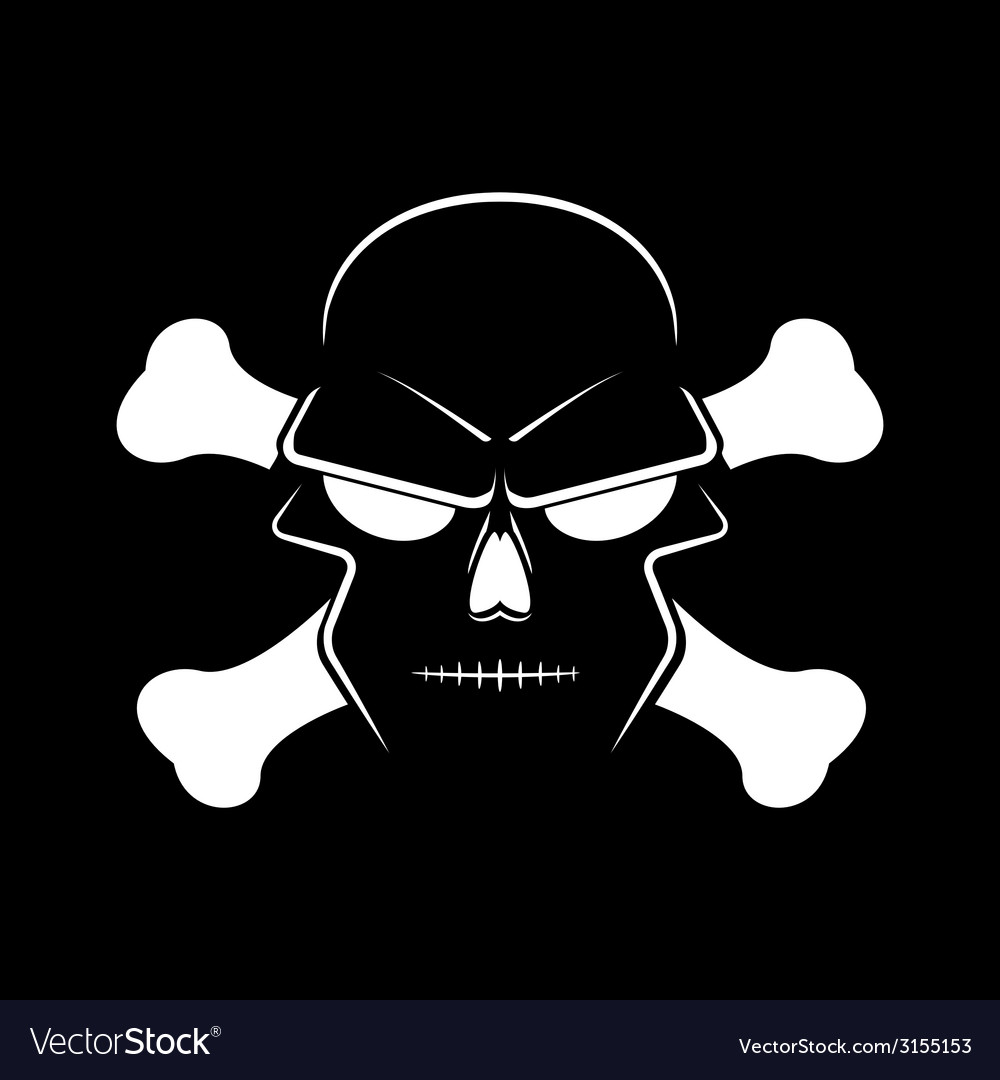 Icon skull and crossbones - a mark of the danger vector | Price: 1 Credit (USD $1)
