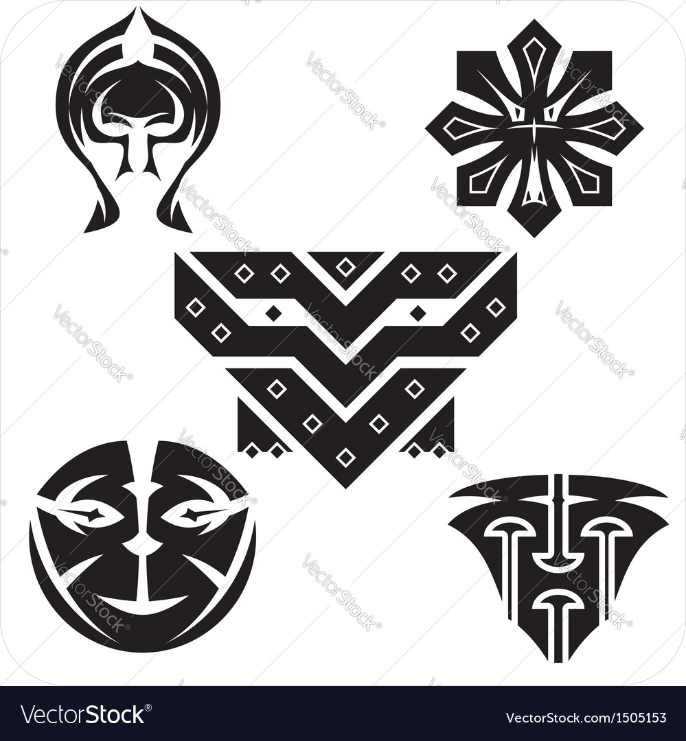 Northwest art - masks set vector | Price: 1 Credit (USD $1)