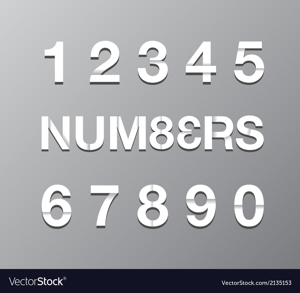 Paper numbers vector | Price: 1 Credit (USD $1)