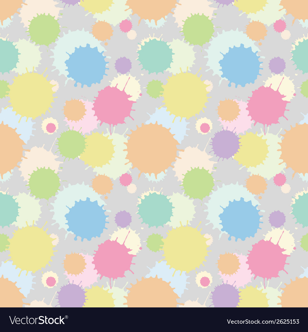 Seamless patterm with painted splash texture vector | Price: 1 Credit (USD $1)