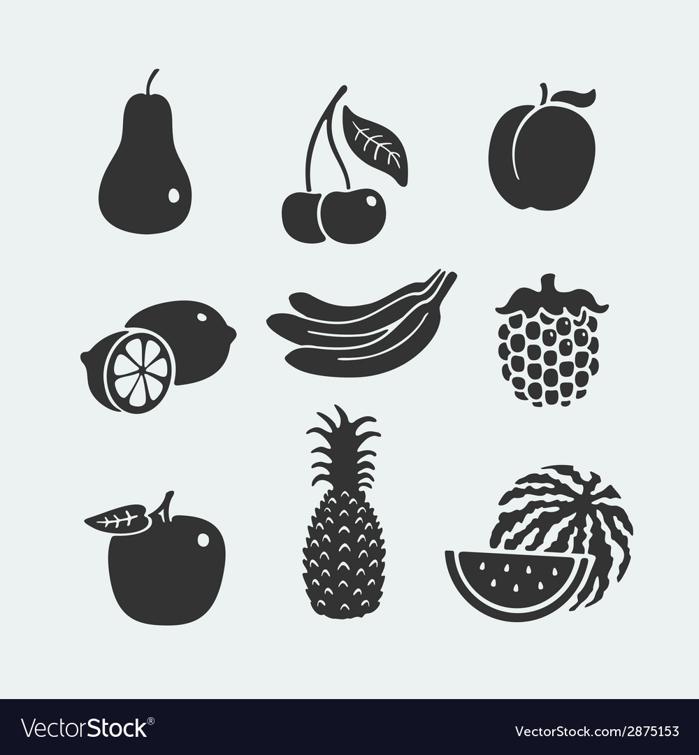 Set of symbols fruit vector | Price: 1 Credit (USD $1)