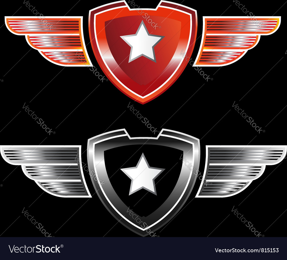 Shield star vector | Price: 1 Credit (USD $1)