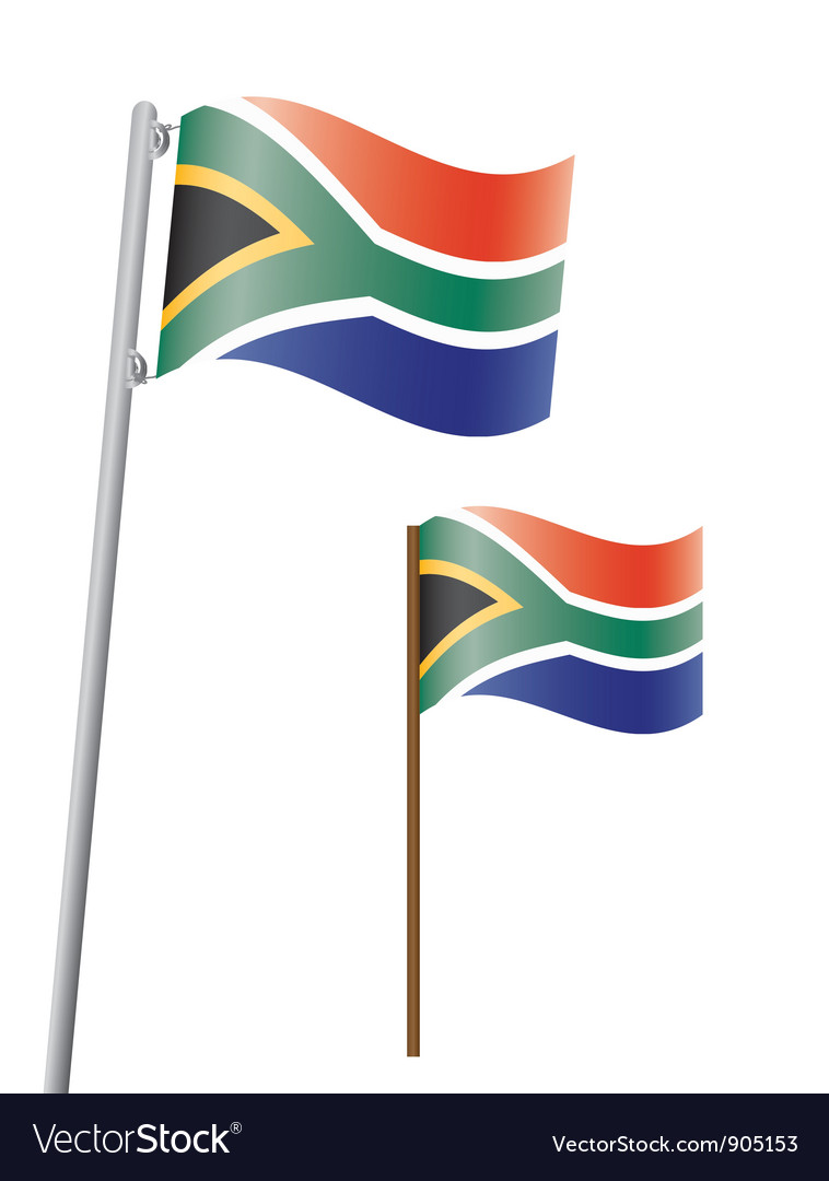 Southafrica flag3 vector | Price: 1 Credit (USD $1)