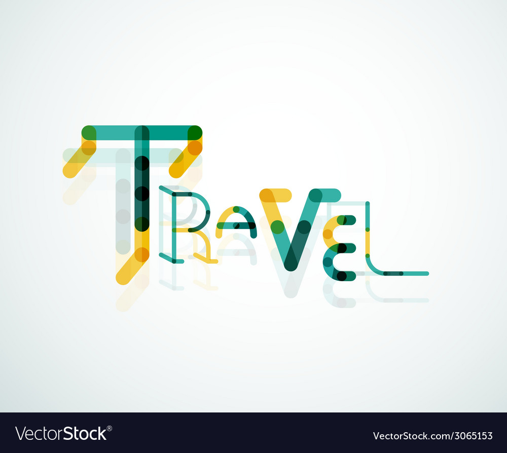 Travel word font concept vector | Price: 1 Credit (USD $1)