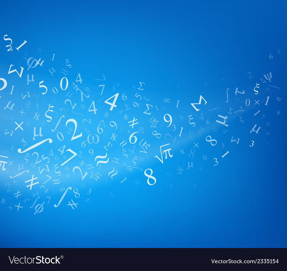 Blue background with numbers vector | Price: 1 Credit (USD $1)