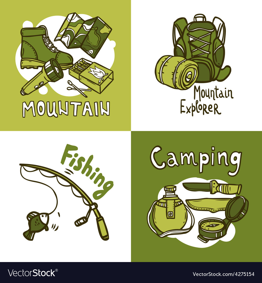Camping design concept vector | Price: 1 Credit (USD $1)
