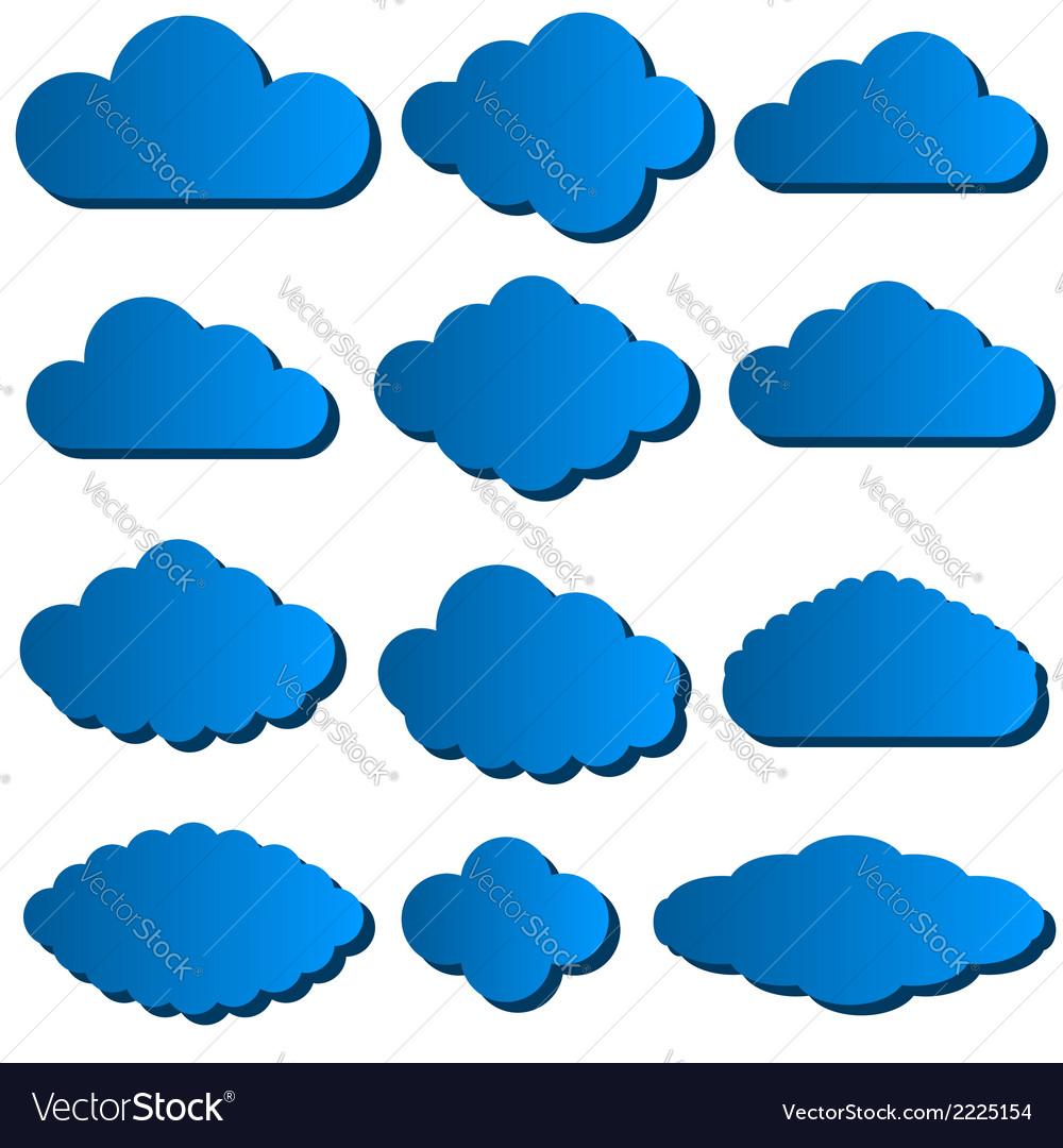 Cloud set vector   Price: 1 Credit (USD $1)