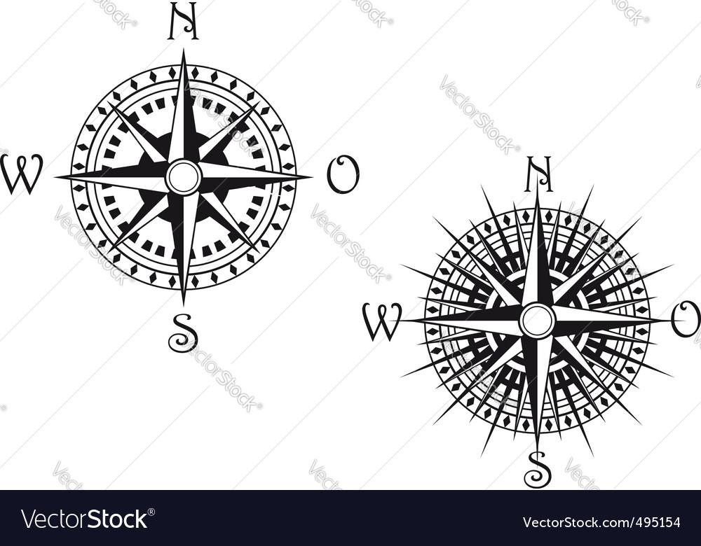 Compass symbol vector | Price: 1 Credit (USD $1)