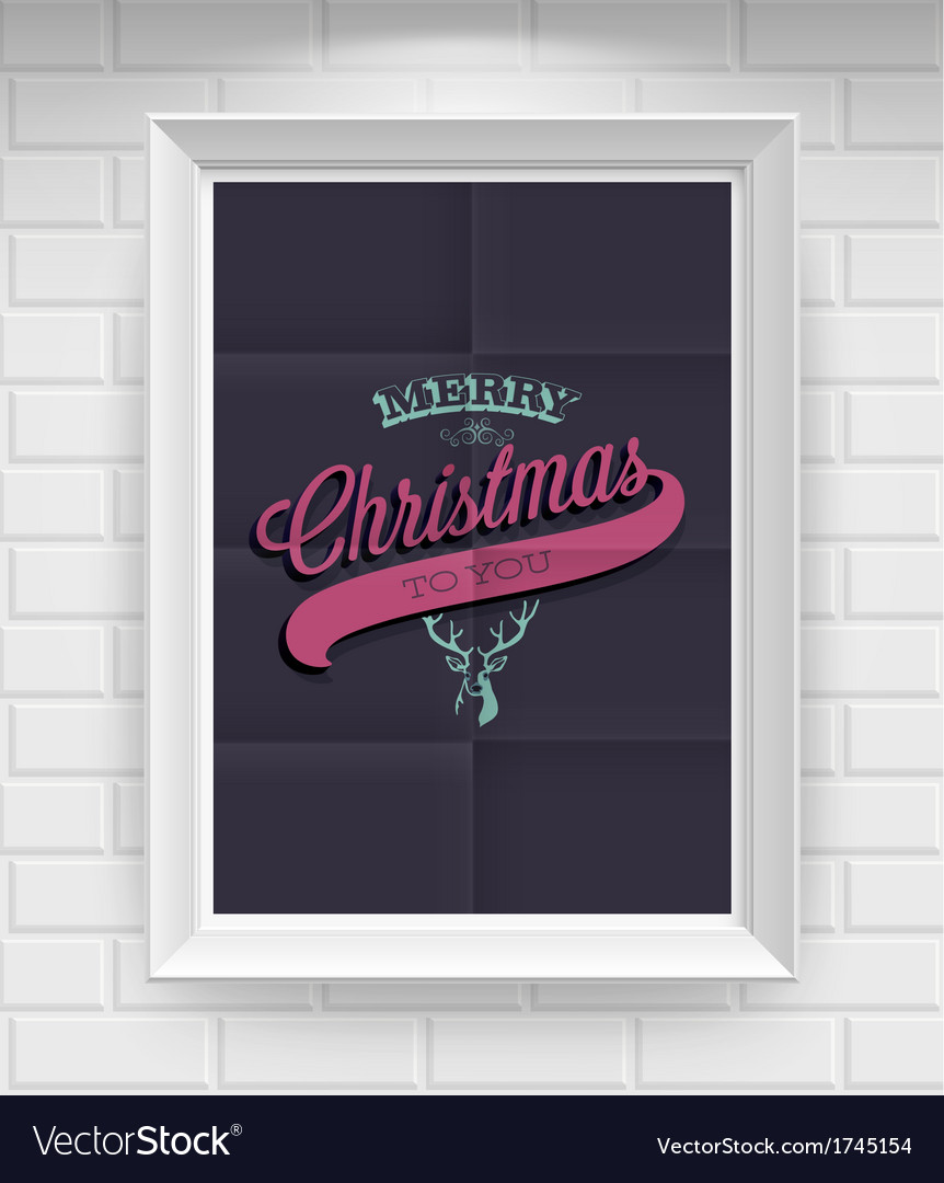 Merry christmas folded3 vector | Price: 1 Credit (USD $1)