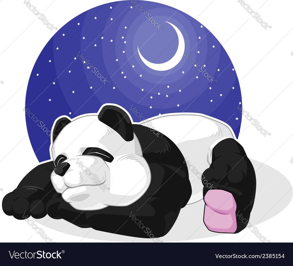 Panda sleeping vector | Price: 1 Credit (USD $1)