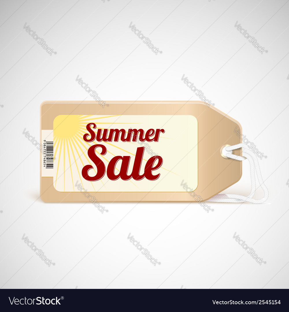 Summer sale tag vector | Price: 1 Credit (USD $1)