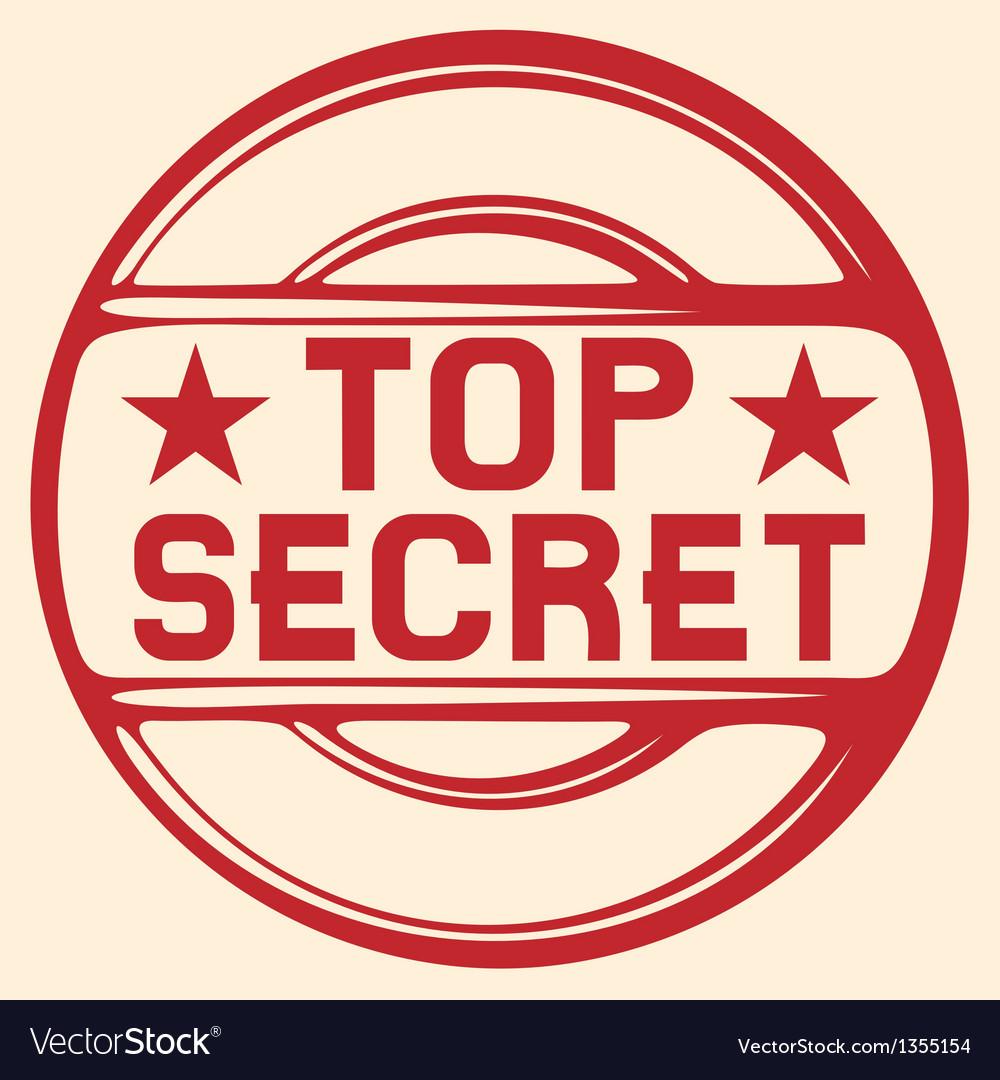 Top secret stamp vector | Price: 1 Credit (USD $1)