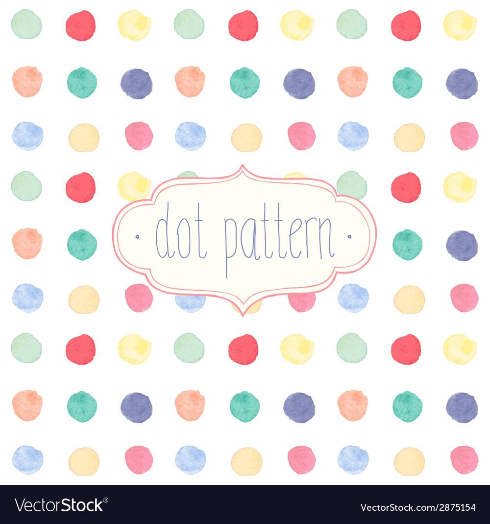 Watercolor dots vector | Price: 1 Credit (USD $1)