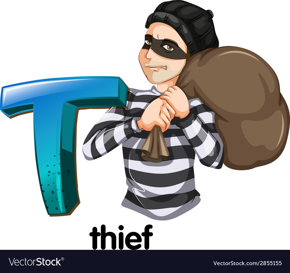 A letter t for thief vector | Price: 1 Credit (USD $1)