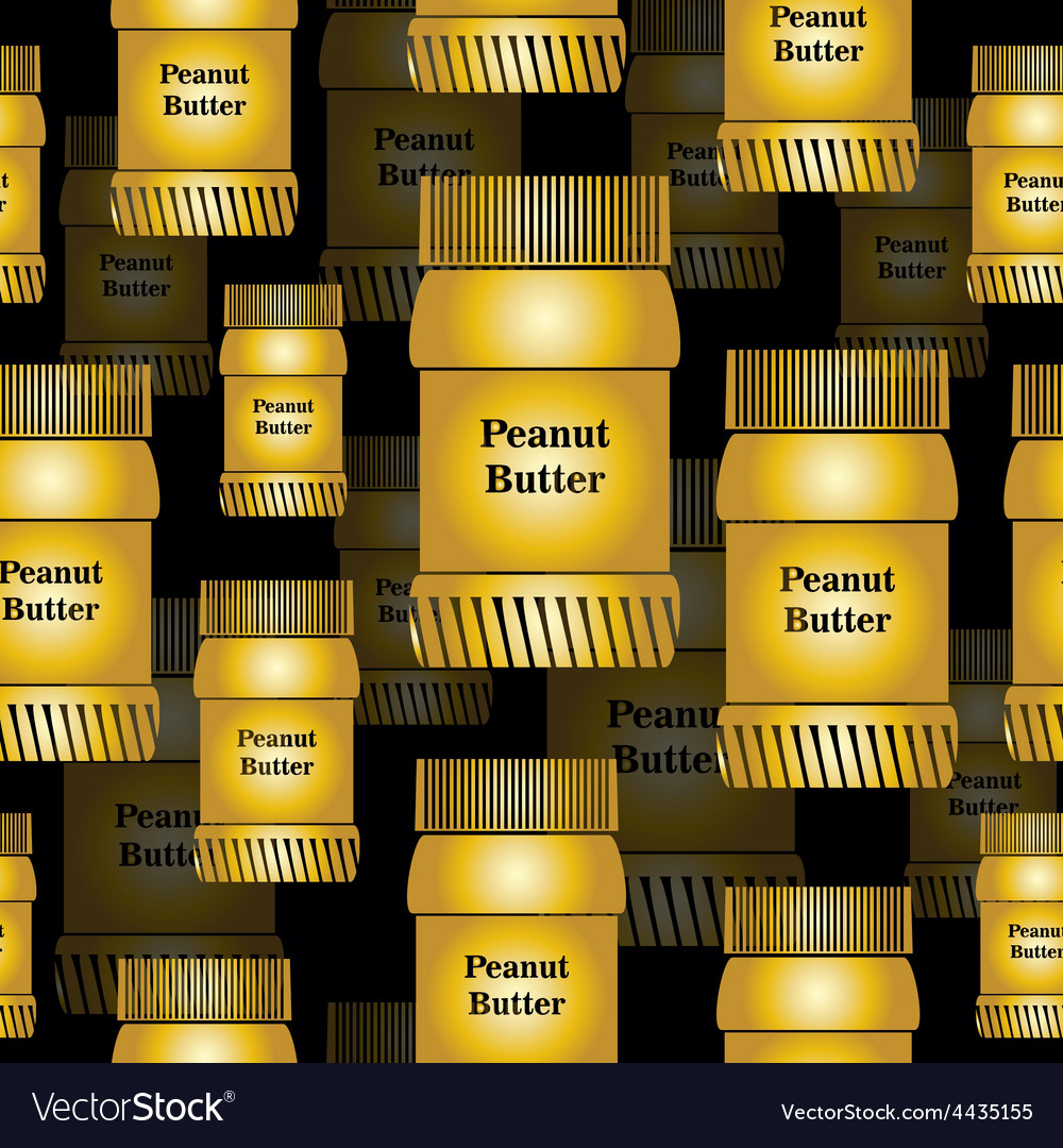 Bank peanut butter seamless background vector | Price: 1 Credit (USD $1)