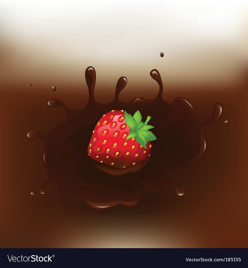 Chocolate dipped strawberry vector | Price: 1 Credit (USD $1)