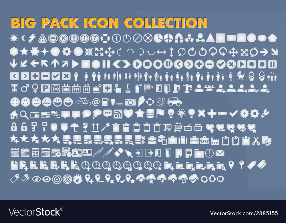 Collection of flat icons with long shadow vector | Price: 1 Credit (USD $1)