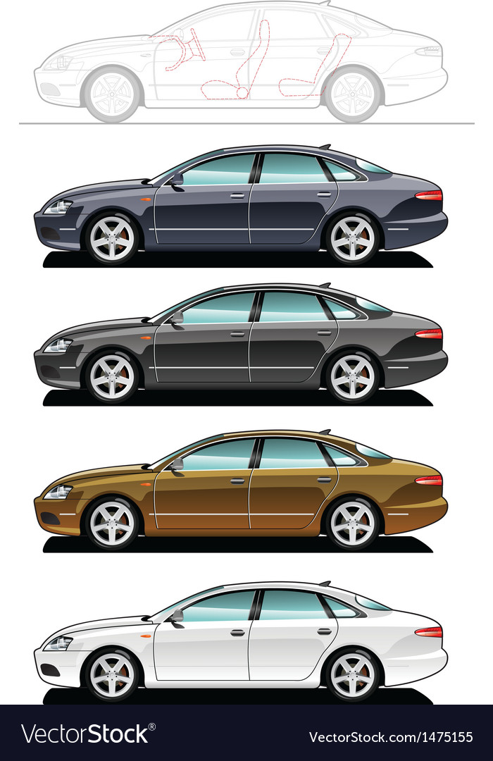 Executive car vector | Price: 1 Credit (USD $1)