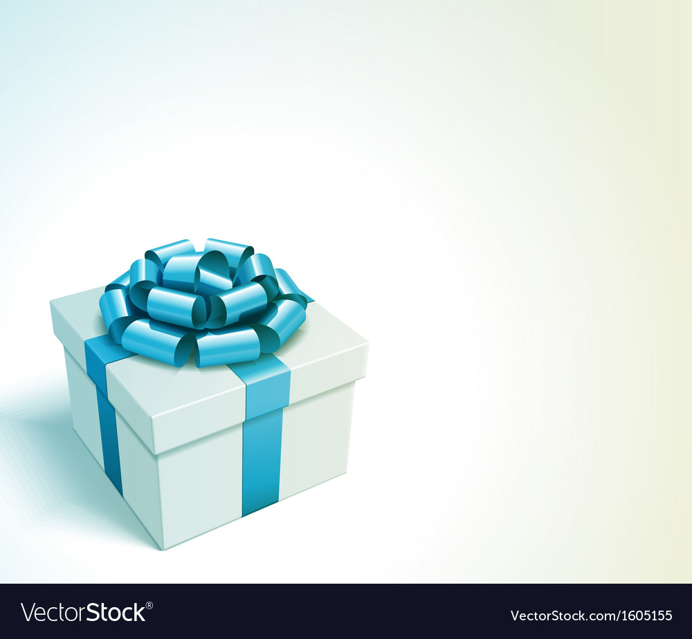 Gift box with bow and light vector | Price: 1 Credit (USD $1)